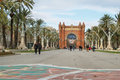 Triumphal arch in barcelona spain january on january the was built on occasion of the universal exposition and Royalty Free Stock Photo