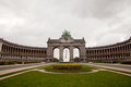 Triumphal arch in Brussels Royalty Free Stock Photo