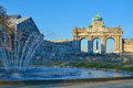 The Triumphal Arch in Cinquantenaire Parc in Brussels, Belgium Royalty Free Stock Photo