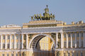 Triumphal arch of the general staff in st petersburg russia located palace square Royalty Free Stock Images