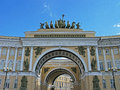 Triumphal arch of the General staff. Saint Petersburg, Russia. Royalty Free Stock Photo