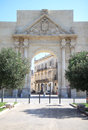 Triumphal arch of the italian town of lecce salento arco di trionfo or commonly called porta napoli or neapolitan gate is one Stock Photos