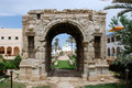Triumphal arch of Marcus Aurelius in Tripoli Royalty Free Stock Photo