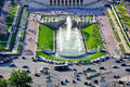 Trocadero fountain view of from eiffel tower paris Royalty Free Stock Photography
