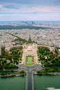 Trocadero and panorama of Paris Royalty Free Stock Photography