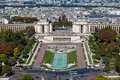 The Trocadero in Paris, France Stock Photography