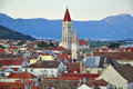 Trogir from above Royalty Free Stock Photo