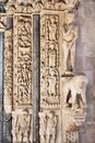Trogir Cathedral stonework in Croatia Royalty Free Stock Photo