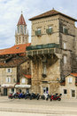Trogir croatia a charming medieval town recognized by unesco as world heritage photo part of the city wall near the port Royalty Free Stock Photography