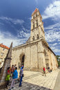 Trogir croatia a charming medieval town recognized by unesco as world heritage photo the romanesque cathedral in the old town on Stock Photos