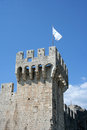 Trogir detail of medieval castle in croatia Royalty Free Stock Image