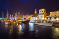 Trogir at night Royalty Free Stock Photo