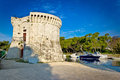 Trogir old stone tower by the sea Royalty Free Stock Photo