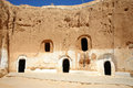 Troglodyte communities with rooms matmata tunisia the largest region of the one of many dwellings fragment of courtyard excavated Royalty Free Stock Photography