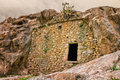 Troglodyte house near Ostriconi in Corsica Royalty Free Stock Photo