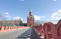 Troitskaya tower moscow kremlin of russia Stock Photos