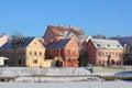 Troitskoye suburb in winter landmark of the city of minsk capital of belarus Stock Photo