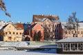 Troitskoye suburb in winter landmark of the city minsk capital of belarus Royalty Free Stock Image