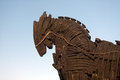 Trojan horse in canakkale turkey Royalty Free Stock Photography