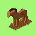 Trojan horse isometric vector illustration