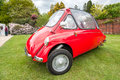 Trojan a rare heinkel designed microcar aka bubble car circa parked at bearwood college in winnersh uk on may Royalty Free Stock Photo