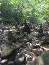 Trol River stones Royalty Free Stock Photo