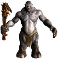 Troll monster beast isolated illustration of a or the evil bad guy is big and ugly Royalty Free Stock Photography