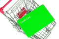Trolley with card shopping credit Stock Photos