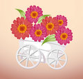 Trolley and flower Royalty Free Stock Photo