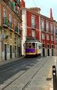 Trolley on lisbon portugal street