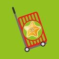Trolley shop juicy star carambola fruit