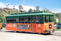 Trolley tours in old town San Diego, California Royalty Free Stock Photos
