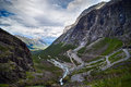 Trolls road, Norway. Stock Images