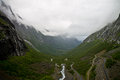 Trollstigen fascinating trolls path in norway Stock Photos