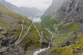 Trollstigen mountain road romsdal norway Royalty Free Stock Photo