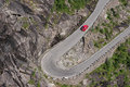 Trollstigen in norway a difficult road Royalty Free Stock Photo