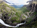 Trollstigen the serpentine mountain road in rauma norway Royalty Free Stock Photography
