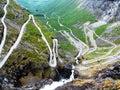 Trollstigen, trol road in Norway Royalty Free Stock Photo