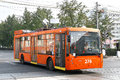 Trolza megapolis perm russia august modern russian trolleybus at the city street Royalty Free Stock Images