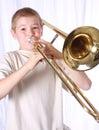 Trombone player 11 Royalty Free Stock Photo