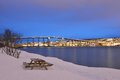 Tromso Bridge Royalty Free Stock Photo