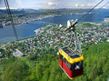 Tromso cable car Royalty Free Stock Photo