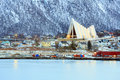 Tromso Cityscape Arctic Cathedral Royalty Free Stock Images