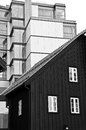 Tromso harbour houses, Norway Royalty Free Stock Photo