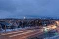 Tromso with the Tromso Bridge Royalty Free Stock Photo