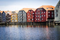 Trondheim norway generic architecture background Royalty Free Stock Photo