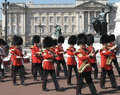 Trooping of the colors at Buckingham Palace Royalty Free Stock Image