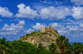 Tropea italy castle old in the italian town of on a background of sea and sky Royalty Free Stock Photo