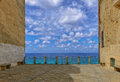 Tropea italy panoramic view in to the sea and sky Stock Image