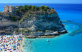 Tropea peninsola with beach Royalty Free Stock Image